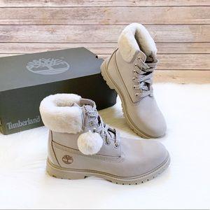 "Timberland 6"" Shearling Collar Waterproof Boots"